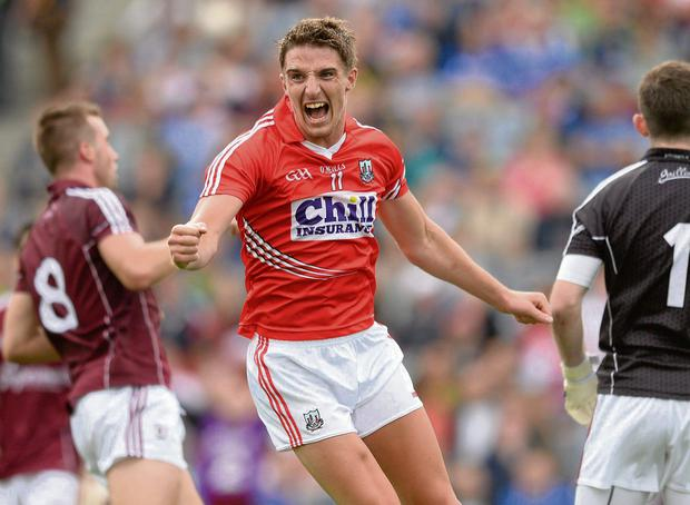 Aidan Walsh in action for the footballers last year