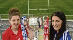 Ciara O'Sullivan of Cork and Monaghan's Therese McNally look ahead to today's All-Ireland final