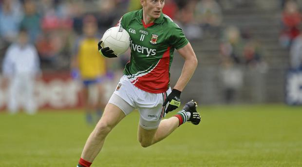 Richie Feeney in action for Mayo during their victory over Roscommon in this year's Connacht SFC semi-fina