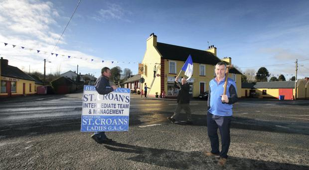 St Croan's supporters prepare for their All-Ireland final