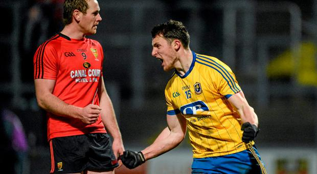 Diarmuid Murtagh, Roscommon celebrates after scoring his side's first goal