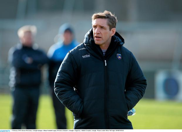 Kieran McGeeney was on the receiving end this summer