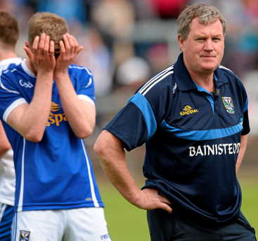 Cavan manager Terry Hyland after the defeat to Monaghan SPORTSFILE