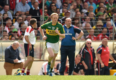 Colm Cooper comes on as a substitute for Kerry against Cork at Fitzgerald Stadium earlier this month