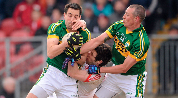 Anthony Maher and Kieran Donaghy will be hoping to make their presence felt against Tyrone and Sean Cavanagh on Sunday