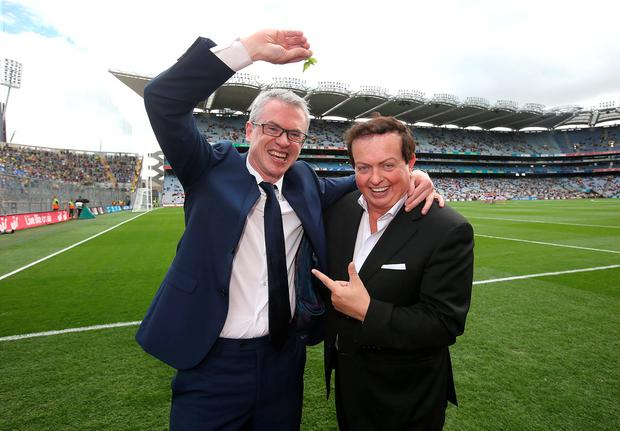 Joe Brolly and Marty Morrissey at Croke Park