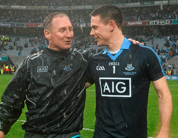 Dublin manager Jim Gavin and goalkeeper Stephen Cluxton