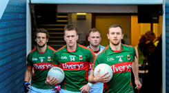 Keith Higgins leads out the Mayo team ahead of their semi-final replay with Dublin. But have they decided who their next manager is? Photo: Stephen McCarthy