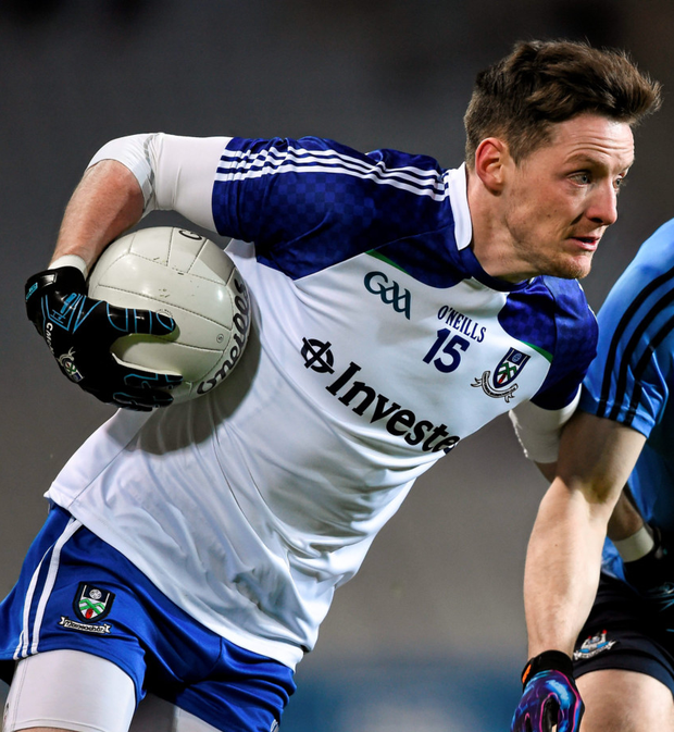 Conor McManus scored 12 points for Managhan in a pulsating match last night Photo: Sportsfile
