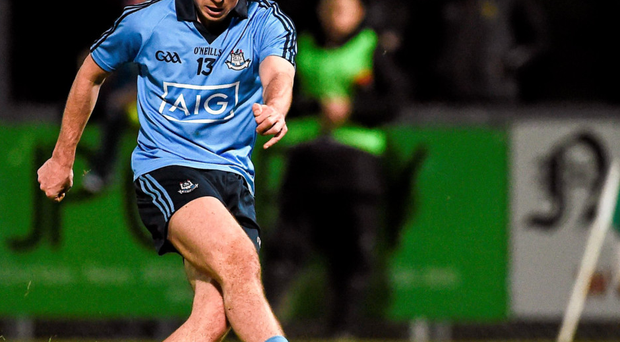 Cormac Costello scored 1-4 in a man of the match performance for Dublin against Down Photo: Oliver McVeigh/Sportsfile