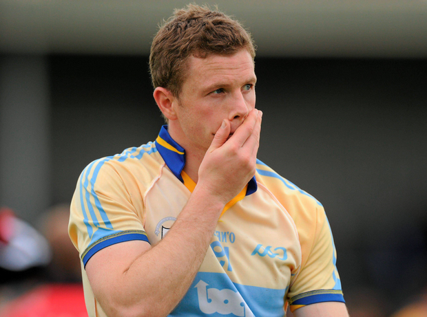 Niall Browne leaves the field after Clare's qualifier loss to Down in 2011 Photo: Sportsfile