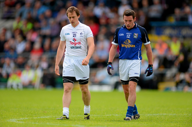 In action for Kildare against Cavan in 2012 when he came up against his good friend Ronan Flanagan. Photo: Sportsfile