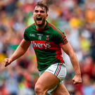Aidan O'Shea will be hoping to maintain Mayo's dominance in Connacht when they take on Galway in Castlebar this evening. Picture: Sportsfile