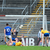 Jamie Malone scores Clare's second goal against Roscommon during the round 4A qualifier in Pearse Stadium yesterday. Photo: Brendan Moran