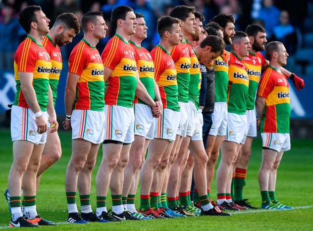 Carlow footballers have stood tall in Division 4 to date and have their eyes fixed on promotion. Photo: Sportsfile
