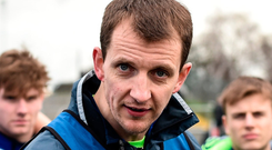 Sugrue (p) was named as the county's sixth manager since 2010, following on from Seán Dempsey, Justin McNulty, Tomás ó Flatharta, Mick Lillis and Peter Creedon. Photo: Sportsfile