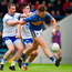 Tipperary's Liam Casey is put under pressure by James McGrath and Conor Murray during last night's Munster Championship clash in Semple Stadium. Photo: Daire Brennan/Sportsfile