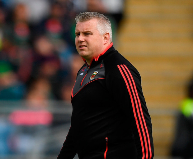 Mayo manager Stephen Rochford during the Connacht GAA Football Senior Championship Quarter-Final match between Mayo and Galway at Elvery's MacHale Park in Mayo. Photo by Eóin Noonan/Sportsfile