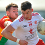Richie Donnelly's move into the full-forward line has given Tyrone a focal point which could cause Dublin some trouble tomorrow evening. Photo: Sportsfile