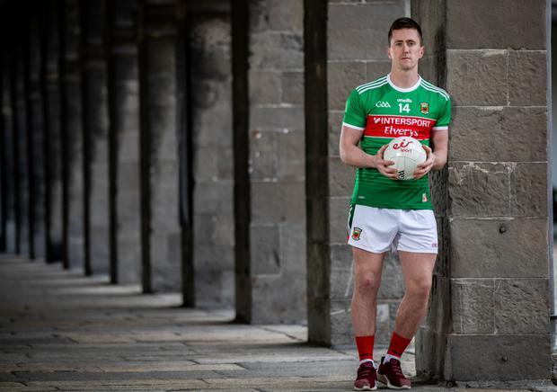 Cillian O'Connor at the Royal Hospital Kilmainham, where eir Sport announced details of their coverage of this year's Allianz Leagues. Photo: INPHO/Morgan Treacy