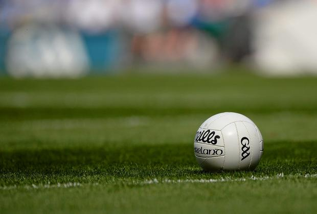 A general picture of a Gaelic football
