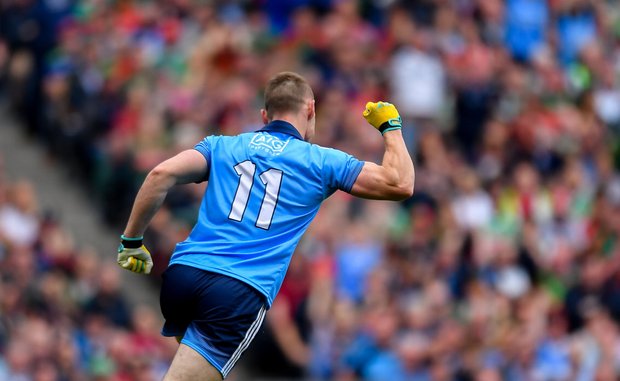 Con O'Callaghan is one of many Dublin players who have improved on their already strong form of 2017. Photo: Sportsfile