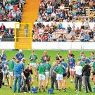 Five-in-a-row hype: Kilkenny supporters (left) turned out in large numbers to watch training sessions ahead of the 2010 All-Ireland SHC final