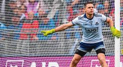 Stephen Cluxton in action during the Dublin's semi-final victory over Mayo. Photo: Sportsfile