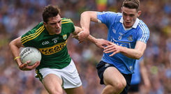 Kerry could ask David Moran to take on Brian Fenton and beat him in every facet but the Dublin star is unlikely to be contained for the whole game. Photo: Ray McManus/Sportsfile