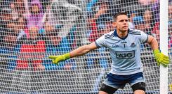 No 1 Pioneer: Dublin goalkeeper Stephen Cluxton has a case to make the best Gaelic football team of all-time, unlike most of his colleagues. Photo: Sportsfile