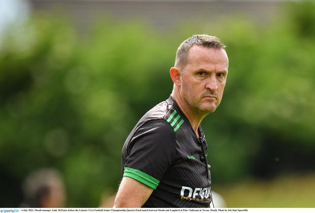 Meath football manager Andy McEntee.