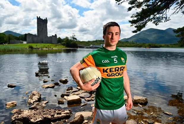 Kerry captain Paul Murphy at the All-Ireland Senior Football Championship Launch at Ross Castle in Killarney, Kerry. Photo: Eóin Noonan/Sportsfile