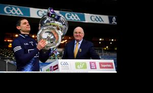Stephen Cluxton lifts Sam Maguire following Dublin's victory over Mayo in last season's All-Ireland football final. It was the Dubs' sixth All-Ireland triumph in a row. Photo: Sportsfile