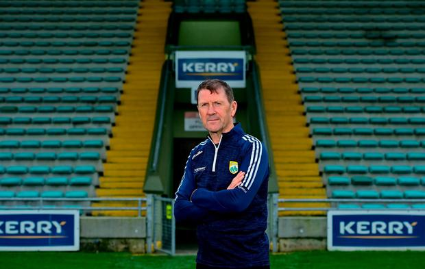 Jack O'Connor was unveiled as Kerry manager for the third time at Austin Stack Park in Tralee yesterday. Photo: Brendan Moran/Sportsfile