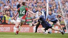 Dublin's Stephen Cluxton in typical action shot