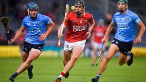 Cork's Darragh Fitzgibbon sets off with Dublin's Rian McBride, left, and Chris Crummey in pursuit during Saturday's All-Ireland SHC quarter-final at Semple Stadium in Thurles. Photo: David Fitzgerald/Sportsfile