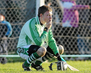 Limerick's goalkeeper this afternoon Barry Hennessy