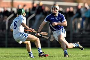 Conor McGrath, Cratloe, in action against Stephen Cahill, Thurles Sarsfields