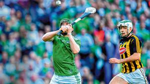 Shane Dowling improvises to score a superb goal for Limerick in last year's All-Ireland SHC semi-final defeat to Kilkenny