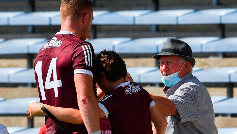 Galway's Joe Canning with his dad Seán and supporters after the Tribesmen's All-Ireland SHC round 2 defeat to Waterford at Semple Stadium. Photo by: Ray McManus/Sportsfile