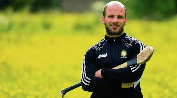 Clare hurler Domhnall O'Donovan pictured near his workplace in Santry, Dublin