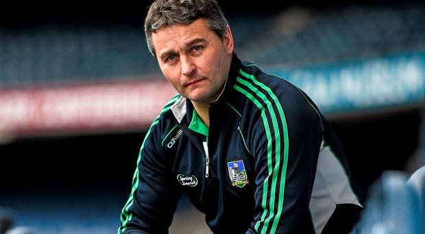 At the launch of the 2015 Allianz Hurling Leagues is Limerick manager TJ Ryan