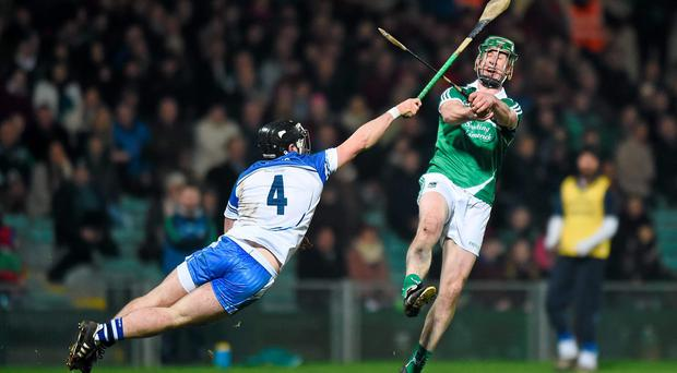 Limerick's Niall Moran in action against Noel Connors of Waterford last weekend in what looks like being his final game for the county