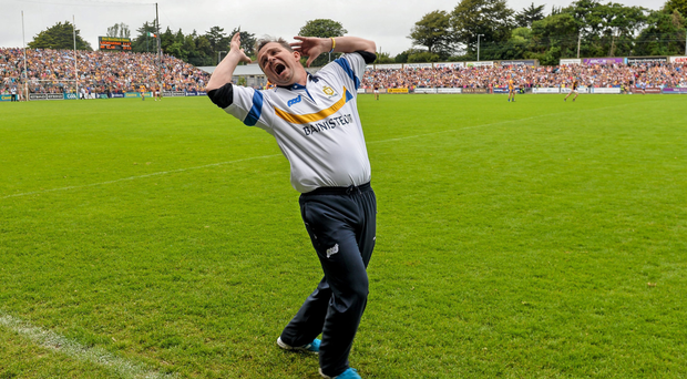 Clare manager Davy Fitzgerald reacts to a decision against his side late in normal time against Wexford last year.
