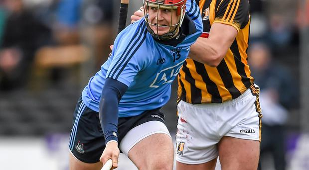 Mark Schutte of Dublin in action against Kilkenny's Jackie Tyrrell in last year's Leinster's final.