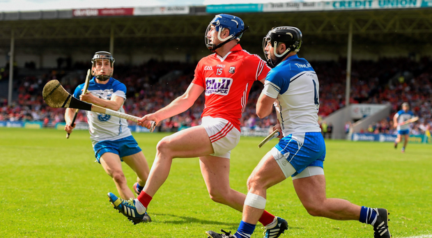 Patrick Horgan found the going tough in the full-forward line against Noel Connors of Waterford but he could be a very different proposition at centre half-forward STEPHEN McCARTHY/SPORTSFILE