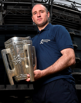 Former All-Ireland winning Tipperary captain Eoin Kelly is pictured at the Bord Gáis Energy Legends Tour at Croke Park SPORTSFILE