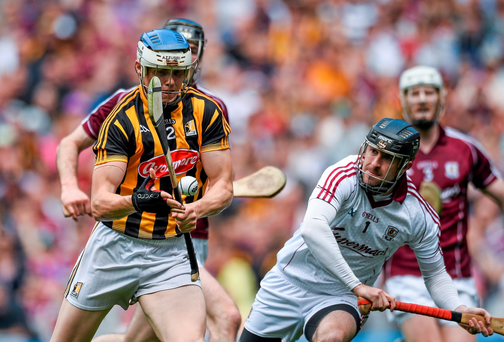 Kilkenny's TJ Reid goes past Galway goalkeeper Colm Callanan on his way to scoring his side's only goal of the game
