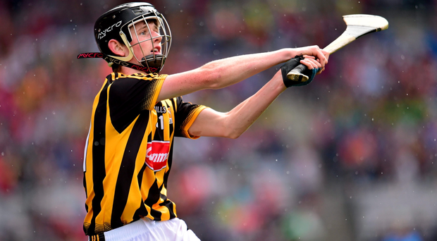 Conor Hennessy scores a crucial late point for Kilkenny