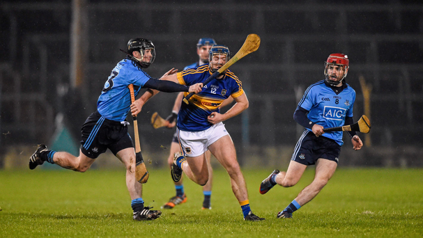 Jason Forde, seen here trying to get past Dublin's David Treacy and Niall McMorrow, is a key player in Tipp's new gameplan Photo: Sportsfile